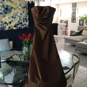 Brown formal gown